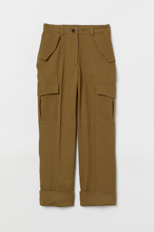 Ankle-length cargo trousers
