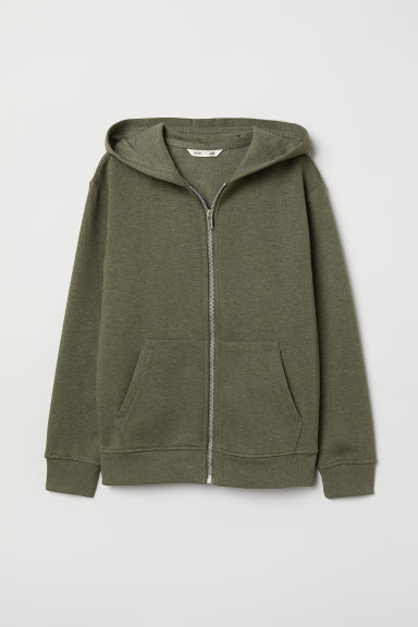 Hooded Jacket - Khaki green - Kids | H&M CN