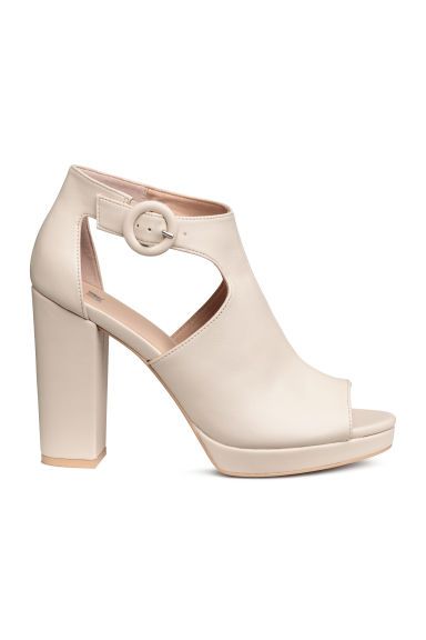 Platform ankle boots - Light beige -  | H&M