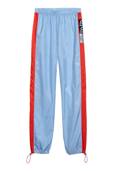 Pantalon jogger fin - Bleu clair/color block -  | H&M FR
