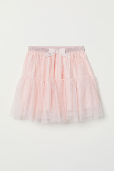 Glittery tulle skirt - Light pink -  | H&M