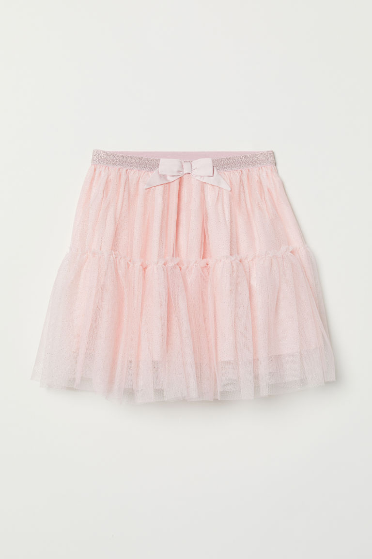 Glittery tulle skirt - Light pink - Kids | H&M CN