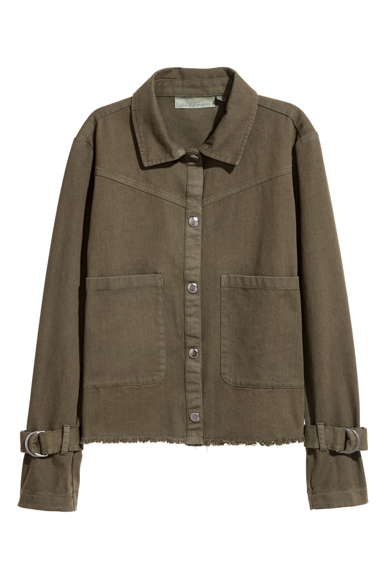 Utility jacket - Khaki green - Ladies | H&M GB