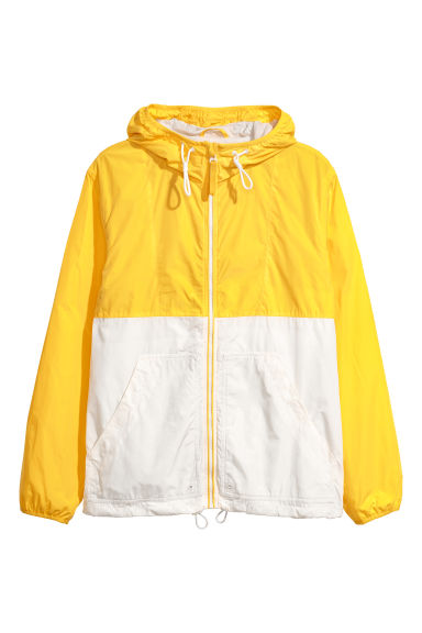Hooded jacket - Yellow/White -  | H&M