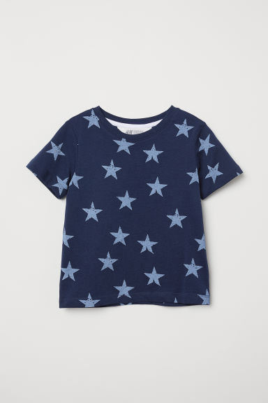 Printed T-shirt - Dark blue/Stars - Kids | H&M