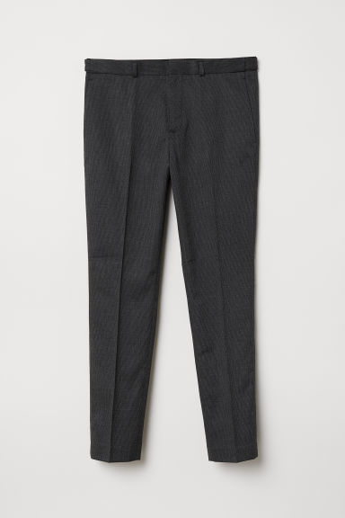 Suit trousers Skinny Fit - Black/Checked - Men | H&M CN