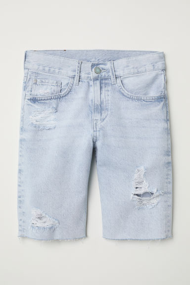 Denim shorts - Light denim blue - Kids | H&M
