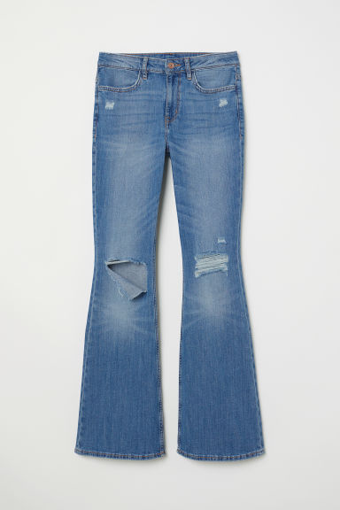Flare High Jeans - Denimblauw -  | H&M BE