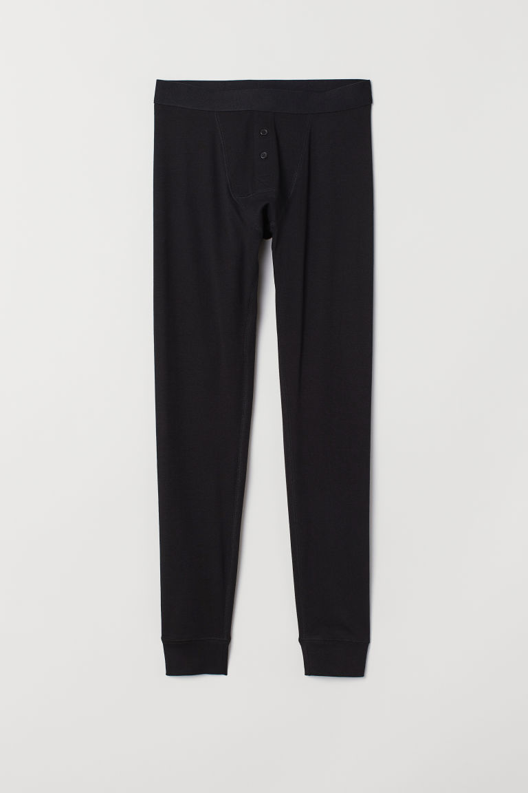 Cotton longjohns - Black - Men | H&M IE