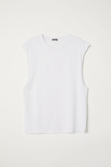 Vest top - Light grey - Men | H&M