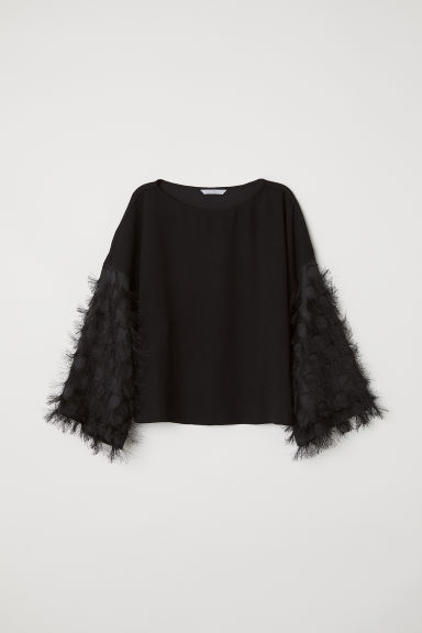 Top ampio - Nero - DONNA | H&M IT
