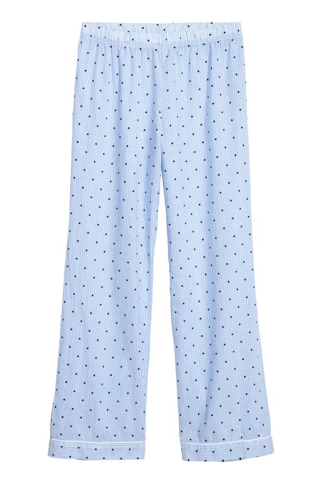 b0b34eee ... Pyjamas med skjorte og bukser - Lyseblå/Prikket - DAME | H&M ...