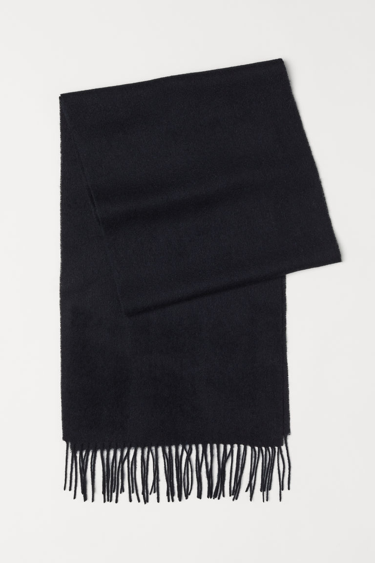 Wool scarf - Black - Men | H&M