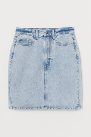 Denim skirtModel