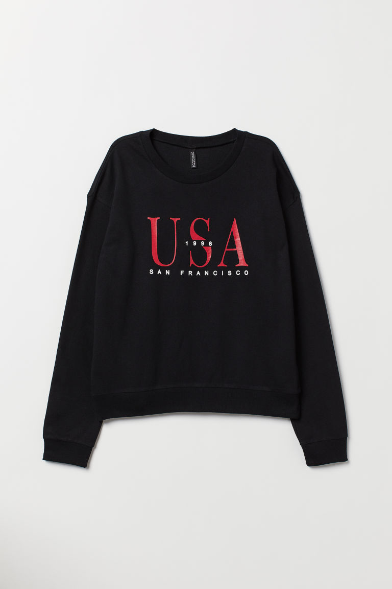 Sweatshirt - Black/USA -  | H&M GB