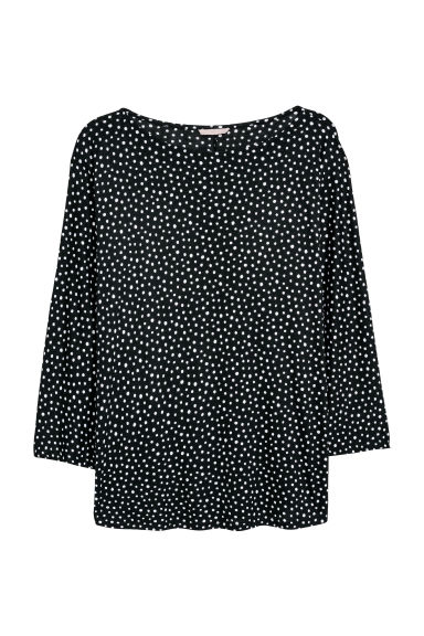 H&M+ Jersey top - Black/White spotted - Ladies | H&M IE