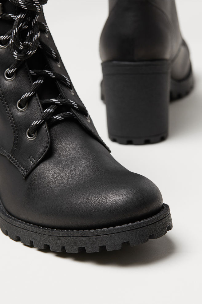 2bc0b9eea68 ... Chunky-sole Boots - Black -
