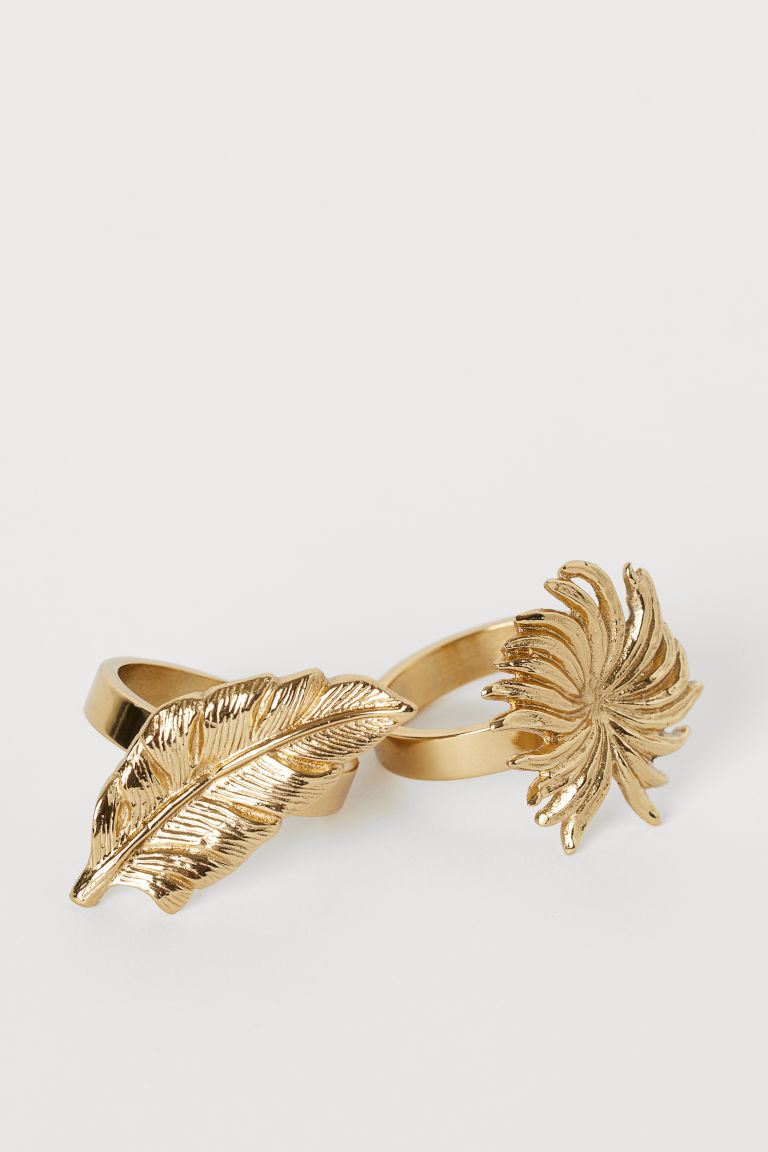 2 Pack Metal Napkin Rings by H&M