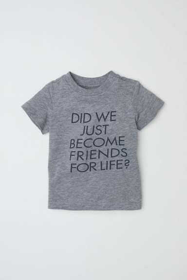 Text-print T-shirt - Grey/Friends For Life - Kids | H&M CN
