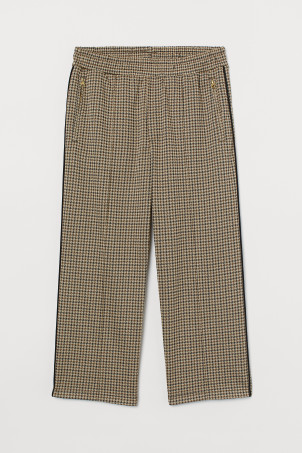 Jacquard-knit trousers