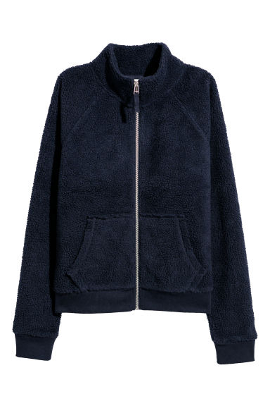 Pile jacket - Dark blue - Ladies | H&M
