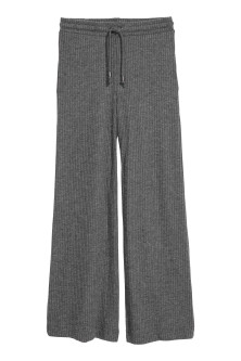 Rib-knit trousers
