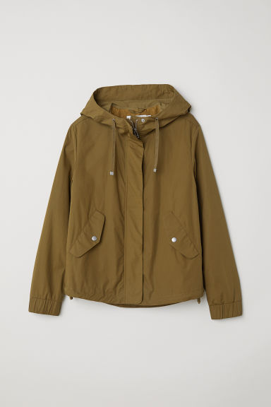 Pima cotton jacket - Khaki green - Ladies | H&M