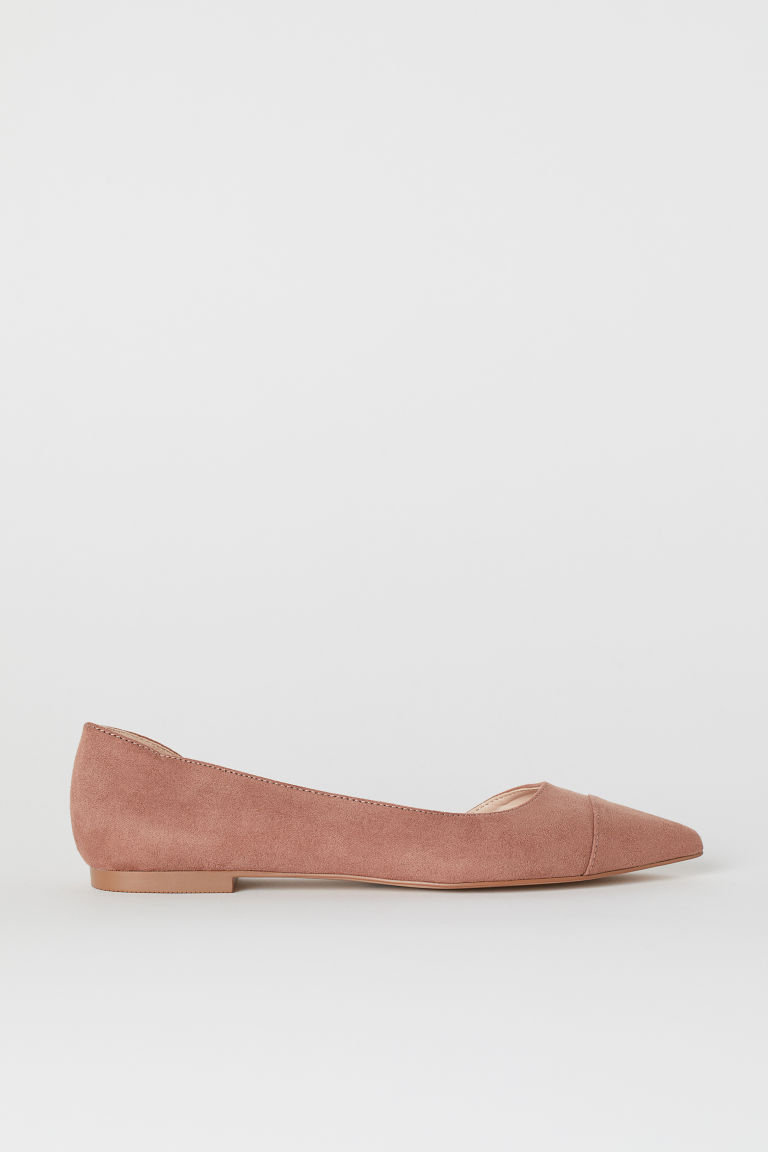 Pointed Flats - Dusty rose - Ladies | H&M US