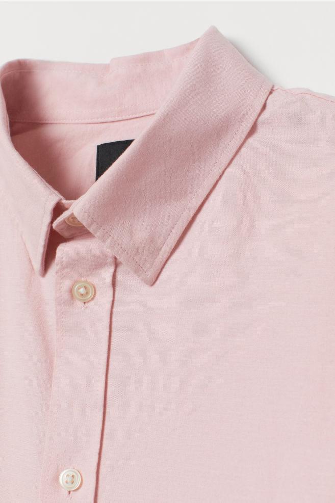732cf1fff ... Muscle Fit Shirt - Light pink - Men | H&M ...