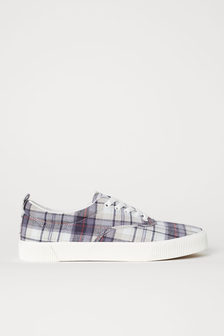 Sneakers - Beige/geruit - HEREN | H&M BE