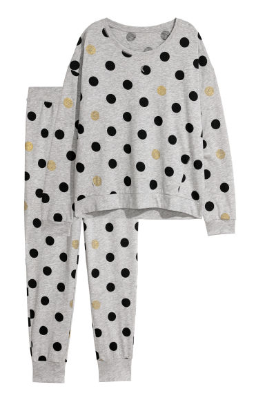 Pyjamas - Grey marl/Spotted -  | H&M