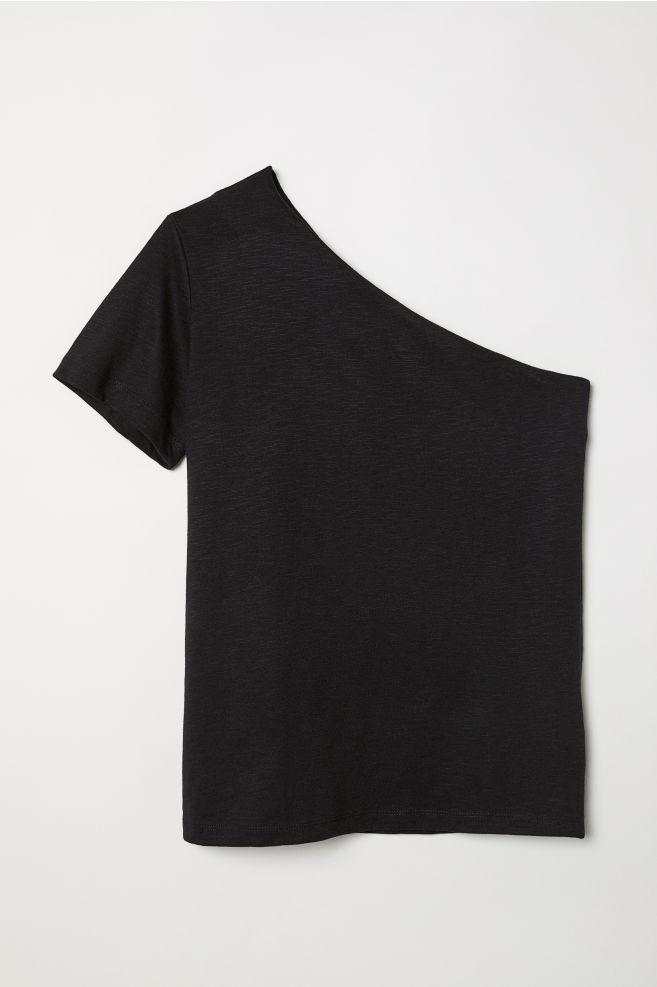 003d1c7998b7e One-shoulder Top - Black - Ladies