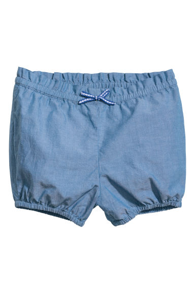 Cotton shorts - Blue -  | H&M CN