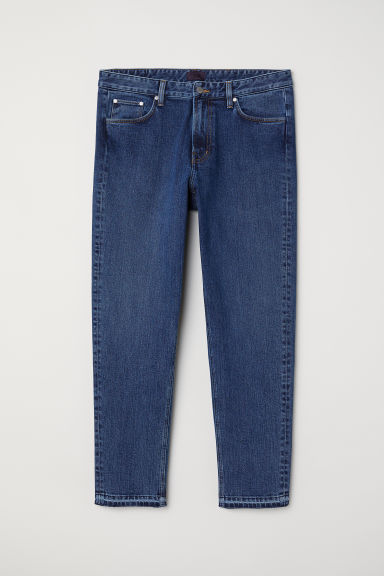 Tapered jeans - Dark denim blue - Men | H&M