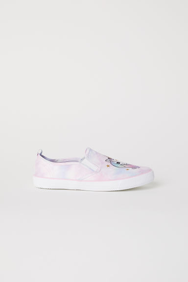 Slip-on trainers - Pink/Unicorn - Kids | H&M