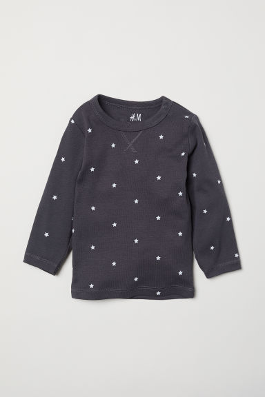Jersey top - Dark grey/Stars - Kids | H&M CN