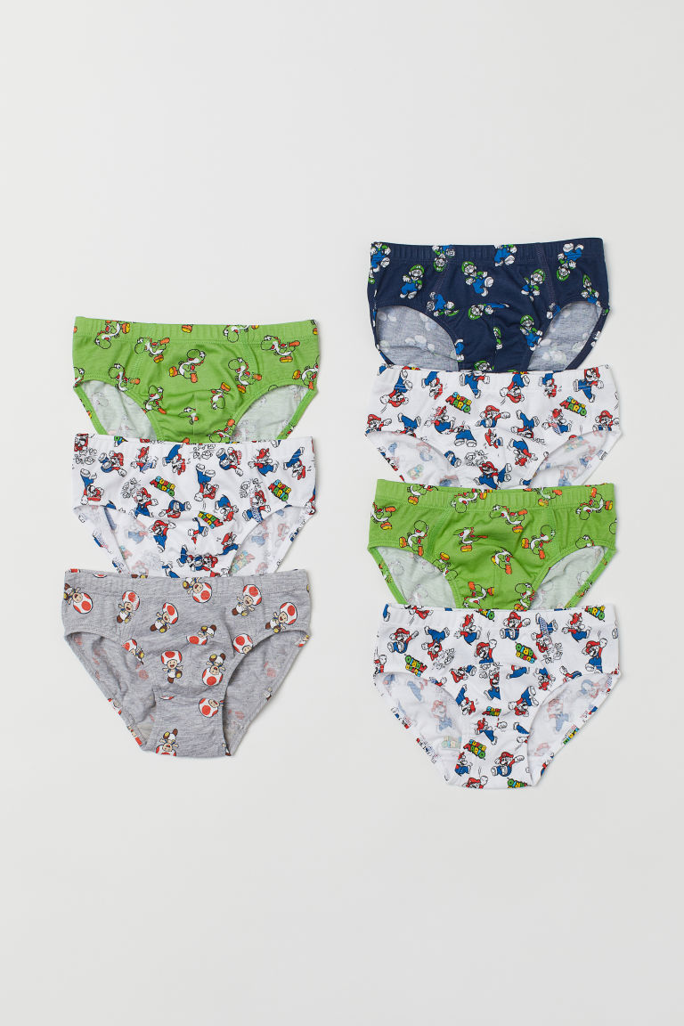 7-pack boys' briefs - Green/Super Mario - Kids | H&M CN