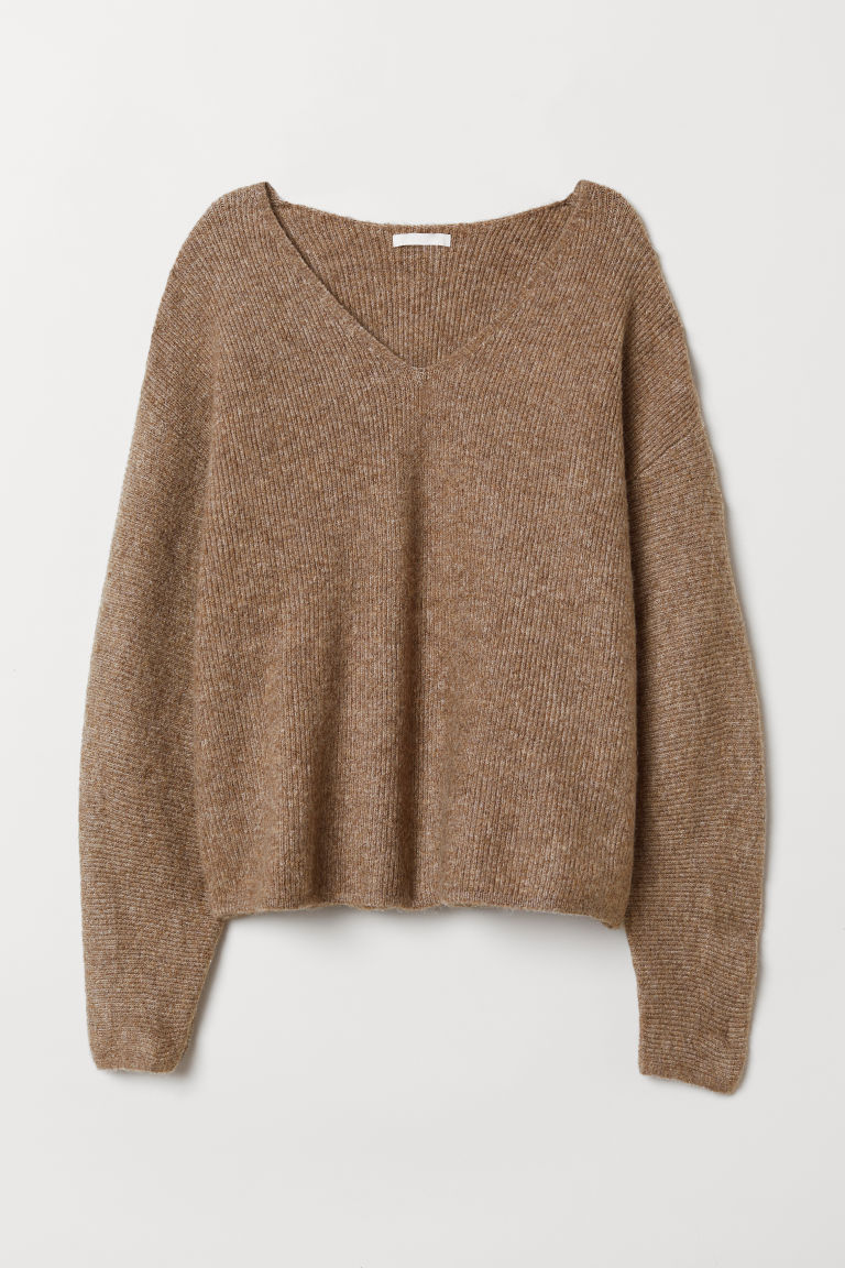 Knitted jumper - Beige - Ladies | H&M