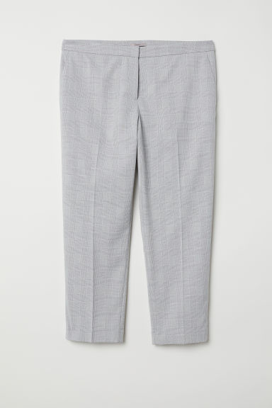 H&M+ Tailored trousers - Light grey/Patterned - Ladies | H&M