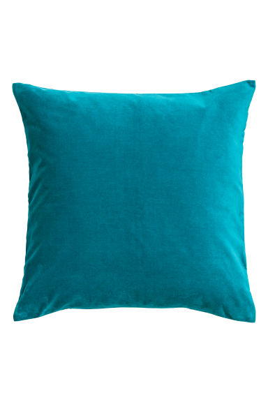 Cotton velvet cushion cover - Turquoise - Home All | H&M GB