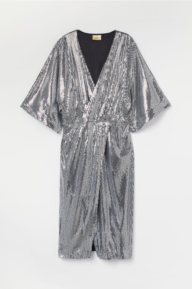313b3416df Sukienka z cekinami - Srebrzysty - ONA