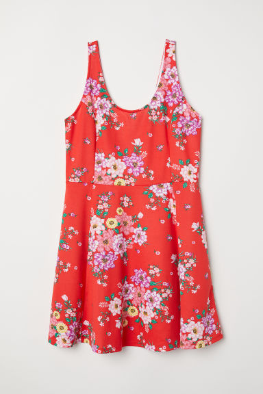 H&M+ Jersey dress - Red/Floral -  | H&M CN