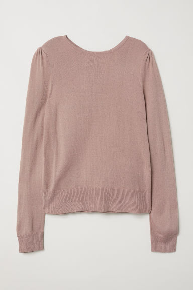 Fine-knit jumper - Old rose -  | H&M CN