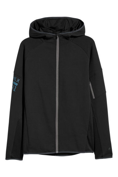 Hooded sports jacket - Black -  | H&M