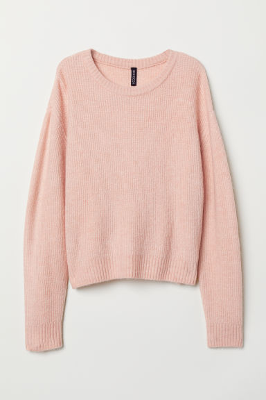 Knit Sweater - Powder pink -  | H&M CA