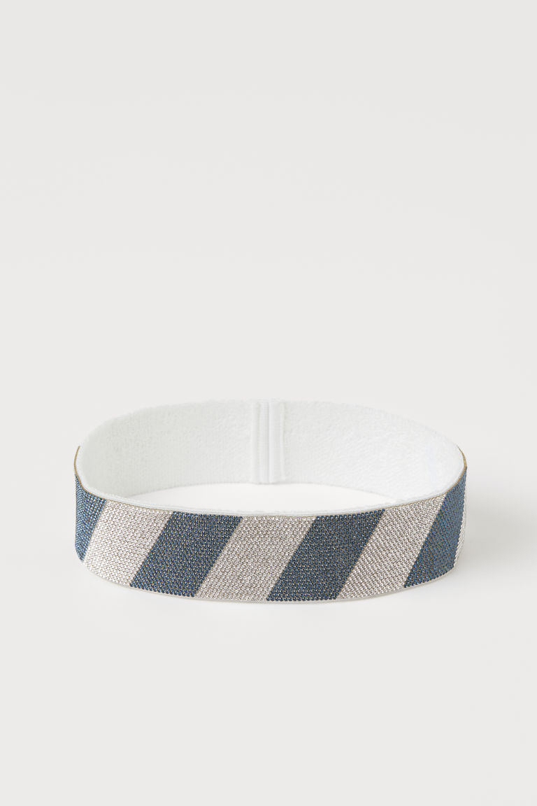 Hairband with Rhinestones - White/blue - Men | H&M US
