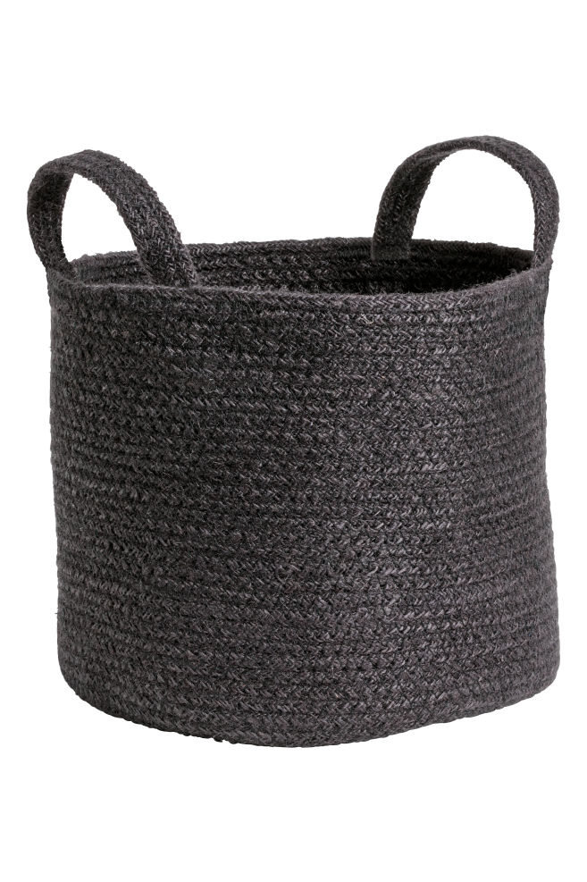 fecb9961aaed Jute storage basket - Black - Home All