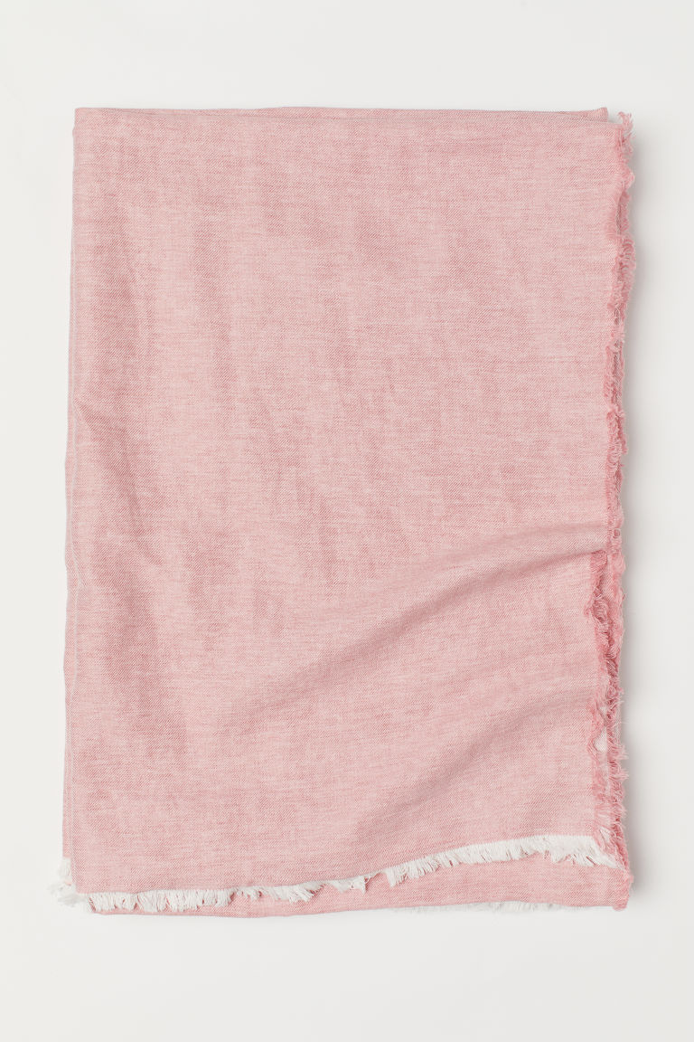 Linen-blend Bedspread - Dusty rose - Home All | H&M US