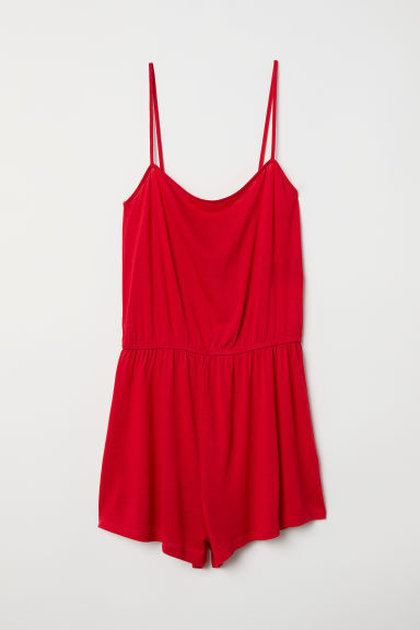 Jersey playsuit - Red - Ladies | H&M CN