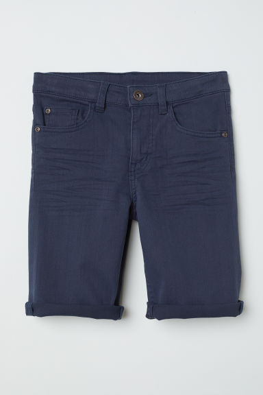 Shorts in twill - Blu scuro - BAMBINO | H&M IT